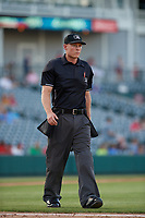 Umpire Brian Walsh during a Texas League game between the Amarillo Sod Poodles and Frisco RoughRiders on May 16, 2019 at Dr Pepper Ballpark in Frisco, Texas.  (Mike Augustin/Four Seam Images)