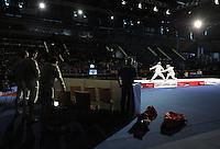 European Championships Fencing 2010 / Fecht Europameisterschaft 2010 in Leipzig - Competition Championat d'europe - im Bild: finale match mens sabre team - Ukraine against Italy - Feature from the corner of the Ukraine . Foto: Norman Rembarz..Norman Rembarz , Autorennummer 41043728 , Augustenstr. 2, 04317 Leipzig, Tel.: 01794887569, Hypovereinsbank: BLZ: 86020086, KN: 357889472, St.Nr.: 231/261/06432 - Jegliche kommerzielle Nutzung ist honorar- und mehrwertsteuerpflichtig! Persönlichkeitsrechte sind zu wahren. Es wird keine Haftung übernommen bei Verletzung von Rechten Dritter. Autoren-Nennung gem. §13 UrhGes. wird verlangt. Weitergabe an Dritte nur nach  vorheriger Absprache..