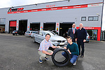 "Bridgestone and Healy's Tyres in Naas team up with jockey Bryan Cooper<br /> <br /> Bridgestone Ireland and Healy's Tyre and Service Centre in Naas have become official tyre suppliers to national hunt jockey and emerging star Bryan Cooper.<br /> Healy's recently fitted Brian's car with Bridgestone S001 Potenza tyres at its First Stop Centre on the Monread Road in Naas. Tom Healy, Proprietor of Healy's said ""We are delighted to be associated with Kildare jockey Bryan Cooper who has already had significant success in his career. We wish Bryan every success for the coming season"".<br /> ends<br /> <br /> For further information contact: Colm Conyngham, Bridgestone Ireland +353 87 2362186<br /> <br /> Pictured Tom Healy and Brian Cooper with the Bridgestone S001 Potenza tyres that were fitted to Brians car to keep him firmly on the road, Also Pictured with Colm Conyngham Consumer Marketing and Public Relations Manager Bridgestone Ireland and John Corcoran Healys Tyres.<br /> <br /> Picture www.newsfile.ie"