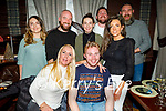 Nicholas Barrett from Johns Park celebrating his birthday in the Grand Hotel on Saturday.<br /> Seated: Selina Finn and Nicholas Barrett.<br /> Back l to r: Tara O'Shea, Mark O'Sullivan, Rachel O'Shea, Declan O'Brien, Liam Shanahan and Samantha Riordan.
