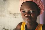 Beautiful Haitian girl. Port-Au-Prince Haiti 2011