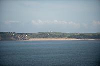 View of Caldy Island from Tenby, Pembrokeshire, Wales, UK
