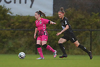 pictured during a female soccer game between Sporting Charleroi and White Star Woluwe on the 7 th matchday in play off 2 of the 2020 - 2021 season of Belgian Scooore Womens Super League , friday 14 th of May 2021  in Marcinelle , Belgium . PHOTO SPORTPIX.BE | SPP | Sevil Oktem