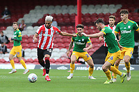 Said Benrahma of Brentford takes on the Preston North End defence during Brentford vs Preston North End, Sky Bet EFL Championship Football at Griffin Park on 15th July 2020