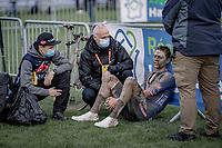 Mathieu van der Poel (NED/Alpecin Fenix) post finish<br /> <br /> 118th Paris-Roubaix 2021 (1.UWT)<br /> One day race from Compiègne to Roubaix (FRA) (257.7km)<br /> <br /> ©kramon