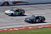 #18: Jeffrey Earnhardt, Joe Gibbs Racing, Toyota Supra iK9 and #11: Justin Haley, Kaulig Racing, Chevrolet Camaro LeafFilter Gutter Protection