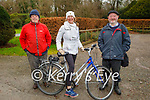 Enjoying a stroll in the Killarney National park on Saturday, l to r: Risteard Clancy and Orla Ni Healaithe and Michael O'Riley
