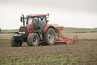 14-10-2021 Drilling Winter wheat in Lincolnshire <br />  ©Tim Scrivener Photographer 07850 303986<br />      ....Covering Agriculture In The UK....
