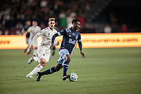 CARSON, CA - MARCH 07: Janio Bikel #19 of the Vancouver Whitecaps of moves with the ball during a game between Vancouver Whitecaps and Los Angeles Galaxy at Dignity Health Sports Park on March 07, 2020 in Carson, California.