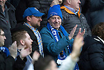 Ross County v St Johnstone…18.02.17     SPFL    Global Energy Stadium, Dingwall<br />The travelling saints fan applaud Chris Kane's goal<br />Picture by Graeme Hart.<br />Copyright Perthshire Picture Agency<br />Tel: 01738 623350  Mobile: 07990 594431
