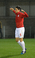20151130 - LEUVEN ,  BELGIUM : Serbian Nevena Damjanovic  pictured during the female soccer game between the Belgian Red Flames and Serbia , the third game in the qualification for the European Championship in The Netherlands 2017  , Monday 30 November 2015 at Stadion Den Dreef  in Leuven , Belgium. PHOTO DIRK VUYLSTEKE