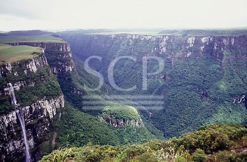 Fortaleza Canyon, Rio Grande do Sul, Brazil. Spectacular high view.