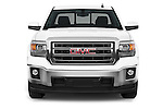 Car photography straight front view of a 2015 GMC Sierra 1500 SLE 4 Door Pick-up Front View