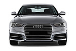 Car photography straight front view of a 2018 Audi A6 Base 4 Door Sedan
