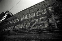 Old advertising on brick wall<br />