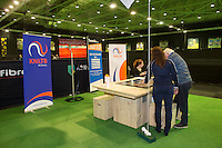 Rotterdam, The Netherlands, February 12, 2016,  ABNAMROWTT, KNLTB stand<br /> Photo: Tennisimages/Henk Koster