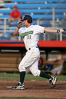 June 27th 2008:  Lonnie Lechelt of the Jamestown Jammers, Class-A affiliate of the Florida Marlins, during a game at Russell Diethrick Park in Jamestown, NY.  Photo by:  Mike Janes/Four Seam Images