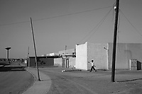 Shwayrif, Libya, March 30, 2011..This small desert town 400km south of Tripoli appears totally quiet on the surface, but some streets are blocked and weapons are evreywhere to be found..