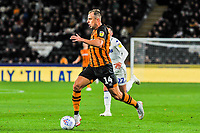 Hull City's midfielder Kamil Grosicki (14) during the Sky Bet Championship match between Hull City and Leeds United at the KC Stadium, Kingston upon Hull, England on 2 October 2018. Photo by Stephen Buckley/PRiME Media Images.