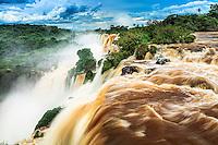 Argentina, Misiones, Iguaz? National Park, Iguazu (Iguacu) Falls, Mbigu?, Cataratas Foz do Igua?u near Puerto Iguaz?