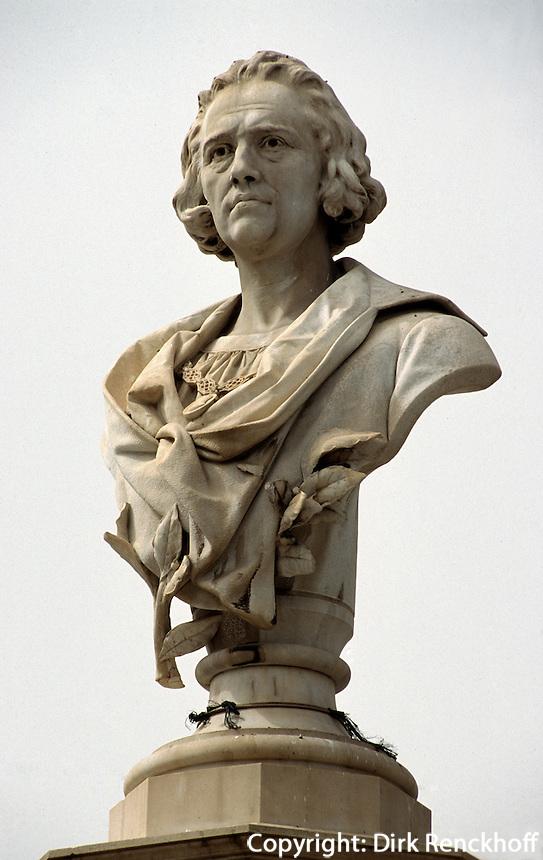 Spanien, Kanarische Inseln, Gran Canaria, Las Palmas. Kolumbus auf der Plaza San Francisco
