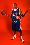 DeAndre Jordan (32) on August 31, 2006 in New York, New York.  Jordan currently attends Christian Life Academy and will play for Texas A&M in the fall of 2007.  Jordan was in town for the Elite 24 Hoops Classic, which brought together the top 24 high school basketball players in the country regardless of class or sneaker affiliation.