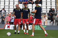 Scott Cuthbert of Stevenage FC and Terence Vancooten of Stevenage FC during Stevenage vs Exeter City, Sky Bet EFL League 2 Football at the Lamex Stadium on 9th October 2021