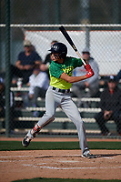 Deven Kirtley during the Under Armour All-America Pre-Season Tournament, powered by Baseball Factory, on January 19, 2019 at Fitch Park in Mesa, Arizona.  Deven Kirtley is an outfielder / left handed pitcher from Santa Rosa, California who attends Piner High School.  (Mike Janes/Four Seam Images)