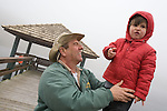 Ivan A. B. Cascaes, owner of Rio do Rastro Eco Resort in the mountains of Santa Catarina, Brazil with his grandson.
