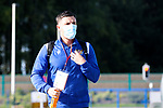 St Johnstone v Lask…26.08.21  McDiarmid Park    Europa Conference League Qualifier<br />Michael O'Halloran arrives ahead of tonight's game<br />Picture by Graeme Hart.<br />Copyright Perthshire Picture Agency<br />Tel: 01738 623350  Mobile: 07990 594431