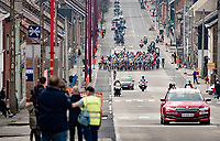 Kilometer zero: actual race start<br /> <br /> 85th La Flèche Wallonne 2021 (1.UWT)<br /> 1 day race from Charleroi to the Mur de Huy (BEL): 194km<br /> <br /> ©kramon