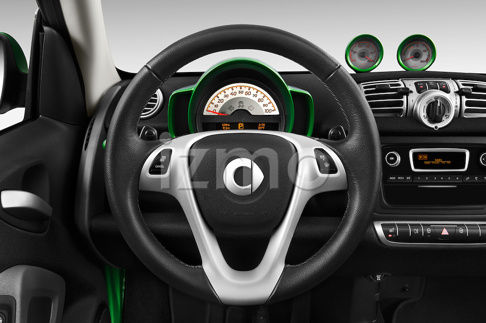 Car pictures of steering wheel view of a 2016 Smart fortwo electric 2 Door Convertible Steering Wheel