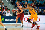 Herbalife Gran Canaria's player Eulis Baez and FC Barcelona Lassa player Justin Doellman during the final of Supercopa of Liga Endesa Madrid. September 24, Spain. 2016. (ALTERPHOTOS/BorjaB.Hojas)