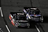 #18: Harrison Burton, Kyle Busch Motorsports, Toyota Tundra Safelite AutoGlass and #4: Todd Gilliland, Kyle Busch Motorsports, Toyota Tundra Mobil 1