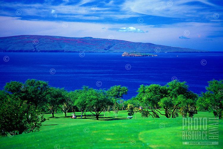 Wailea Golf Course on Maui with Kahoolawe in background