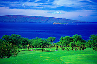 Wailea Golf Course on Maui with Kahoolawe in background