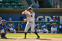 Colby Wright (43) of the Billings Mustangs at bat against the Ogden Raptors in Pioneer League action at Lindquist Field on August 14, 2016 in Ogden, Utah. Ogden defeated Billings 15-9. (Stephen Smith/Four Seam Images)