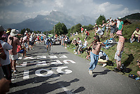 Nairo Quintana (COL/Movistar) now has a pace-fan to lock on to...<br /> <br /> Stage 18 (ITT) - Sallanches › Megève (17km)<br /> 103rd Tour de France 2016