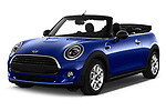 2018 Mini MINI One Salt 2 Door Convertible angular front stock photos of front three quarter view