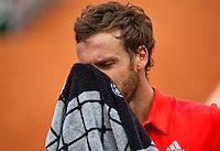 France, Paris , May 24, 2015, Tennis, Roland Garros, Ernest Gulbis (LAT)<br /> Photo: Tennisimages/Henk Koster