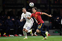 Theo Hernandez of France and Mikel Oyarzabal of Spain during the Uefa Nations League final football match between Spain and France at San Siro stadium in Milano (Italy), October 10th, 2021. Photo Andrea Staccioli / Insidefoto