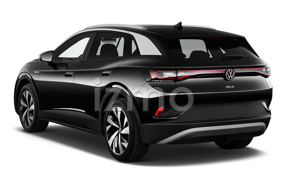 Car pictures of rear three quarter view of 2021 Volkswagen ID.4 First-Edition 5 Door SUV Angular Rear