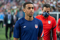 DENVER, CO - JUNE 6: Tyler Adams of the United States during a game between Mexico and USMNT at Mile High on June 6, 2021 in Denver, Colorado.