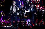 JYJ, Aug 09, 2014 : South Korean boy band JYJ perform during their 2014 Asia Tour 'The Return of The King' Concert at Jamsil stadium in Seoul, South Korea. (Photo by Lee Jae-Won/AFLO) (SOUTH KOREA)