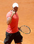 Jo-Wilfried Tsonga, France, during Madrid Open Tennis 2015 match.May, 7, 2015.(ALTERPHOTOS/Acero)