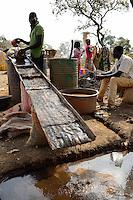 BURKINA FASO , Fada N´Gourma, village TINDANGOU, gold mining Camp PAMA, artisanal gold mines, panning place
