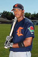 Connecticut Tigers second baseman Alexander Nunez (22) before a double header vs. the Batavia Muckdogs at Dwyer Stadium in Batavia, New York July 10, 2010.  Connecticut dropped the first game 3-5 then defeated Batavia 8-1 in the night cap.  Photo By Mike Janes/Four Seam Images
