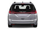 Straight rear view of 2021 Chrysler Pacifica-Hybrid LIMITED 5 Door Minivan Rear View  stock images