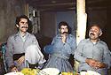 Iran 1981.At the headquarters of KDPI, left, Mustafa Hajri  and right, Said Sharafkandi