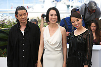 MASATOSHI NAGASE, DIRECTOR NAOMI KAWASE AND AYAME MISAKI - PHOTOCALL OF THE FILM 'RADIANCE' AT THE 70TH FESTIVAL OF CANNES 2017